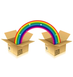 Rainbow from Box vector image vector image
