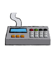 remote control panel with display monitor vector image