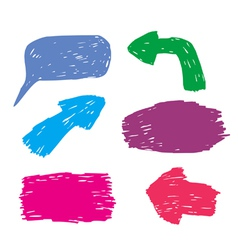 scribbled arrows vector image
