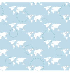 seamless light pattern with maps of the world vector image vector image