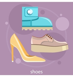 Set of different shoes vector image vector image