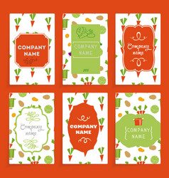 templates cards vector image vector image