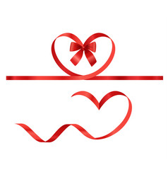 Valentines day elements ribbons vector