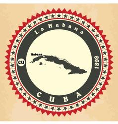 Vintage label-sticker cards of cuba vector