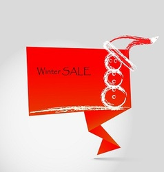winter sale origami vector image vector image