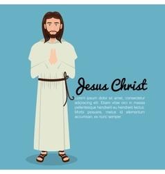 Jesus christ pray design isolated vector