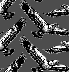 eagles seamless pattern vector image