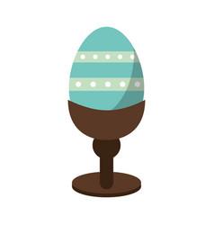 easter egg wooden base decorative vector image