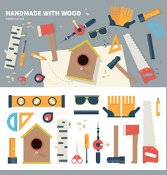 Tools for handmade things vector