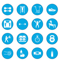 Gym icon blue vector