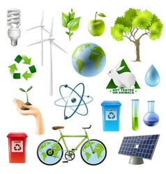 1612i107025Pm005c23ecology green energy set vector image vector image