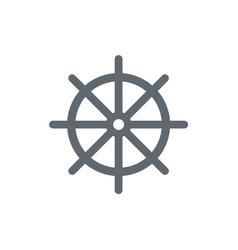 Boat steering wheel icon vector