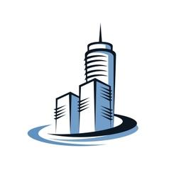 Modern skyscraper vector image
