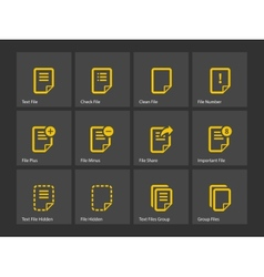 Notepad document file and note icons vector