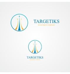Logo with three colorful arrows vector