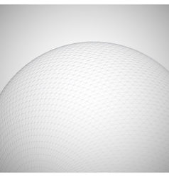 3D sphere with global line connections vector image vector image