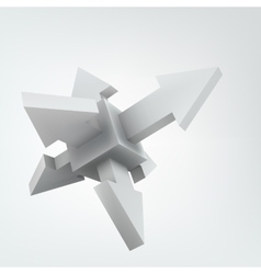 3d cube with arrows vector