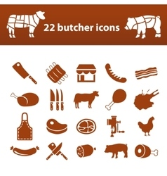 Butcher icons vector