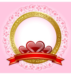 Valentines day plaque vector
