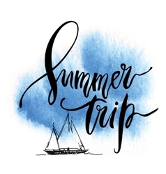 Summer trip card vector
