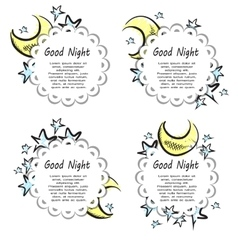Moon and stars labels vector