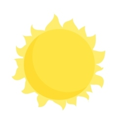 Sun icon in cartoon style vector image