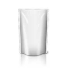 Blank realistic plastic pouch isolated on white vector