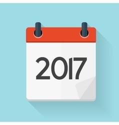 Calendar 2017 Flat Daily Icon vector image