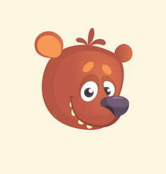 cartoon cute bear icon vector image