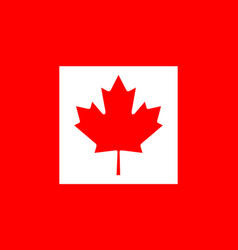 Colored flag of canada vector
