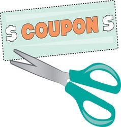 Coupon Clipper vector image vector image