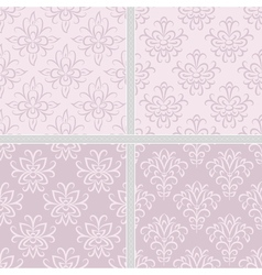Damask ethnic seamless textile pattern vector image