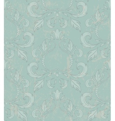 Damask seamless wallpaper with grunge effect vector image vector image