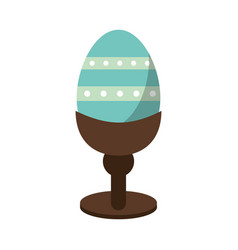 Easter egg wooden base decorative vector
