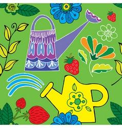 garden print vector image vector image