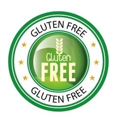 gluten free design vector image
