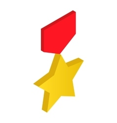 Gold star order 3d icon vector image vector image