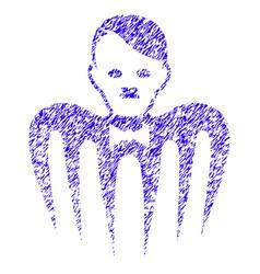 Hitler croupier monster icon grunge watermark vector