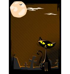 illustration of halloween cat vector image vector image