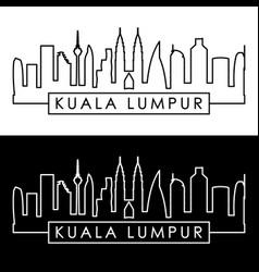 kuala lumpur skyline linear style editable file vector image