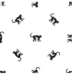 Macaque pattern seamless black vector