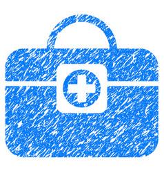 Medic case grunge icon vector