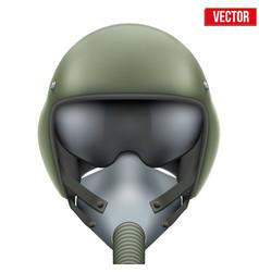 Military flight fighter pilot helmet vector