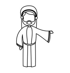 outlined joseph man manger character vector image