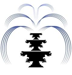 Retro fountain silhouette icon isolated vector