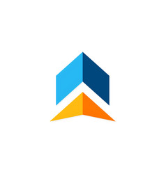 shape arrow logo vector image