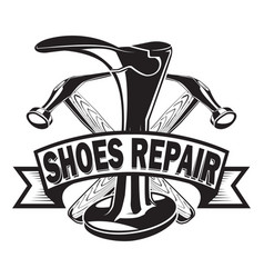 shoes repair ribbon vector image vector image