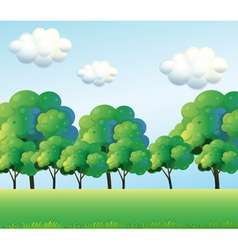 The green trees vector image vector image