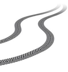 Tire tracks white background vector
