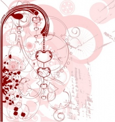Valentine's heart design vector image
